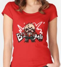 My Hero Academia: Katsuki Bakugo - BOOOM!! Women's Fitted Scoop T-Shirt