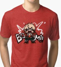Mon héros universitaire: Katsuki Bakugo - BOOOM !! T-shirt chiné