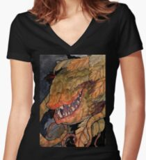 Audrey II Women's Fitted V-Neck T-Shirt