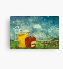 The Mice and The Apple Canvas Print