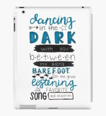 Perfect by Ed Sheeran Lyric Art iPad Case/Skin