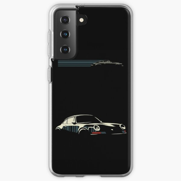 Porsche minimaliste Coque souple Samsung Galaxy