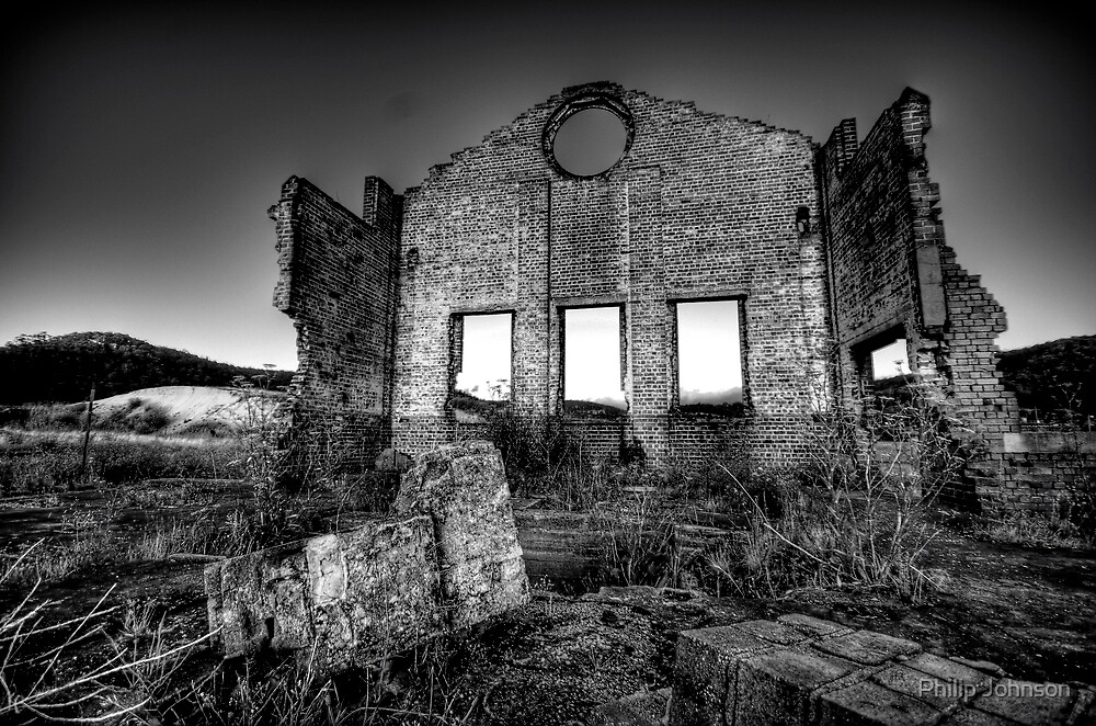 It's All Black and White - Blast Furnace Park , Lithgow NSW 0 The HDR Experience by Philip Johnson