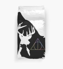 Wolf, stag and dog Duvet Cover