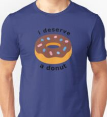 I Deserve a Donut - Dark Slim Fit T-Shirt