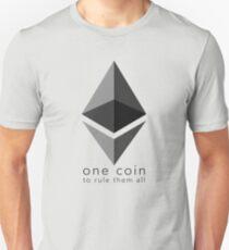 Ethereum: Eine Münze, um sie alle zu beherrschen Slim Fit T-Shirt