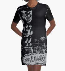 The Luau - Retro Tiki Print Graphic T-Shirt Dress