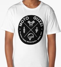 Moto Guzzi Bespoke Motorcycles Since 1921 HIPSTER Long T-Shirt