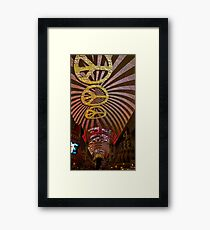The Fremont Street Experience Framed Print