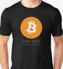 Bitcoin: Eine Münze, um sie alle zu beherrschen Slim Fit T-Shirt