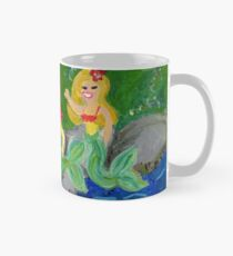 Retro Sixties Mermaid Grotto Painting Mug