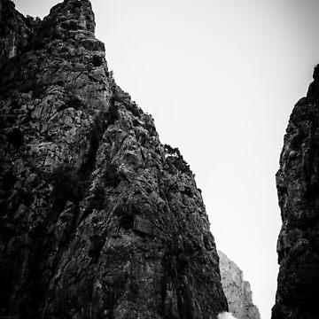 Torrent de Pareis BW – Mallorca / Majorca by lesslinear
