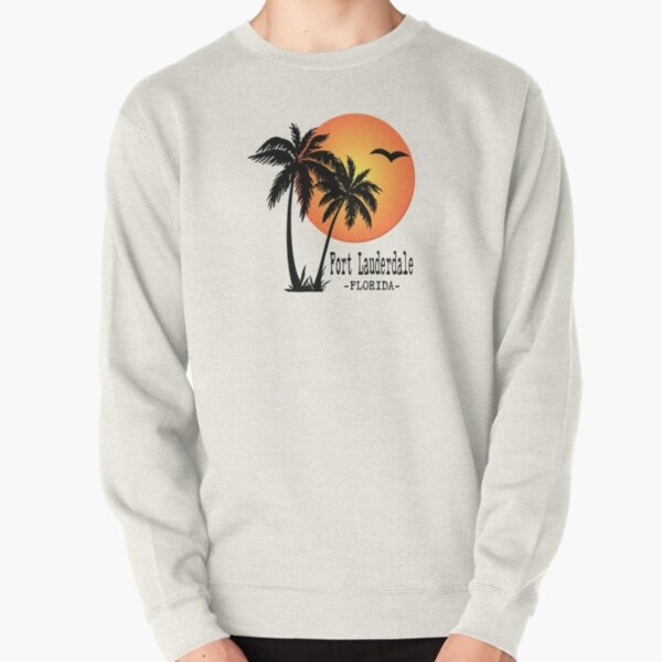 Fort Lauderdale Florida Beach Sun Palm Trees  Pullover Sweatshirt