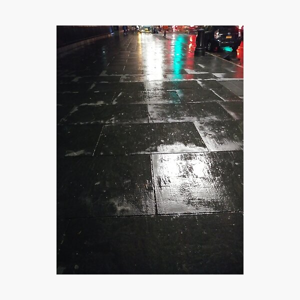 New York, Manhattan, Brooklyn, New York City, architecture, street, building, tree, car, pedestrians, day, night, nightlight, house, condominium,  Photographic Print