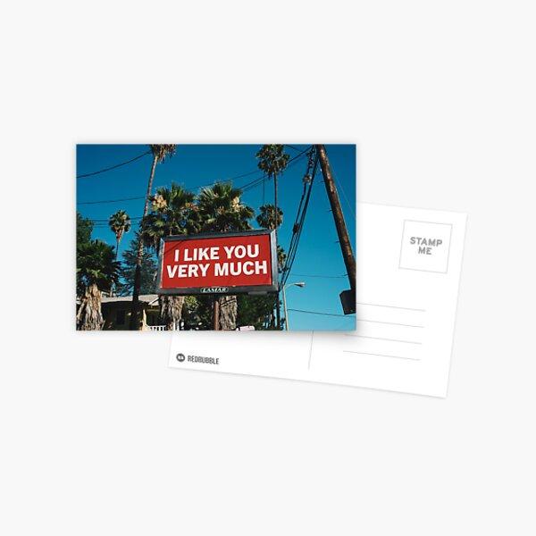 I Like You Very Much Postcard