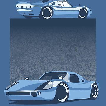 Porsche carrera minimalist poster by SFDesignstudio