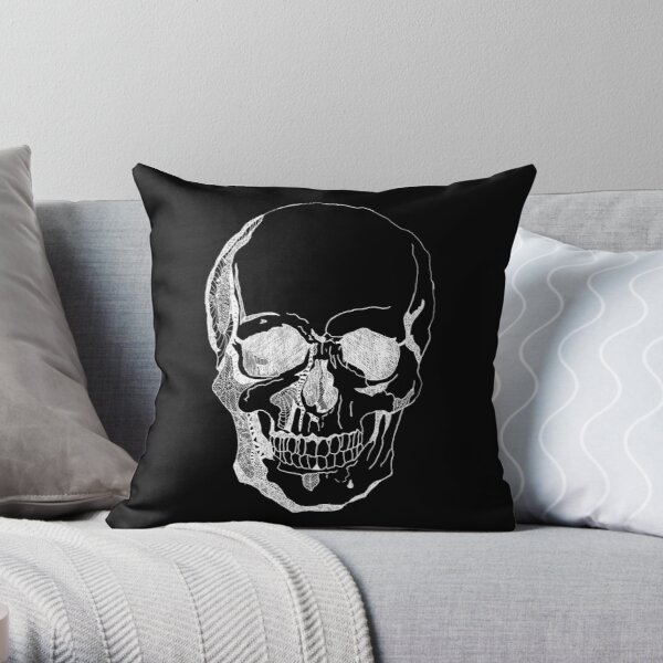 Inverted Skull Throw Pillow