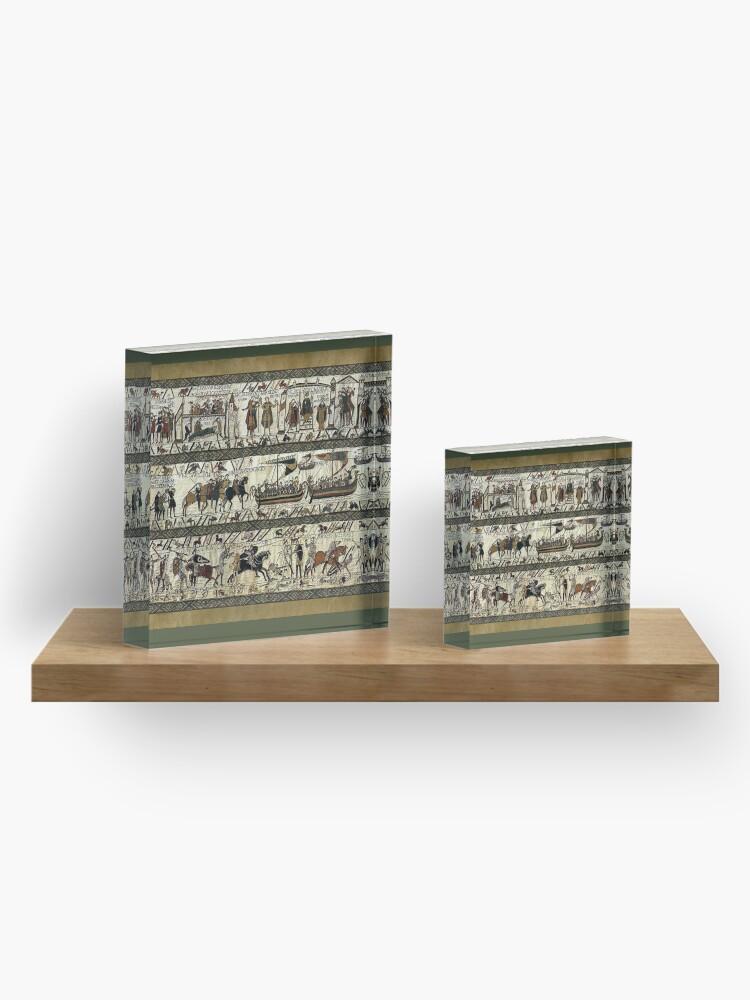 Alternative Ansicht von Bayeuxteppich Acrylblock