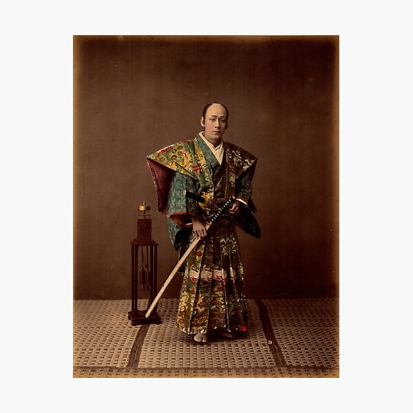 Samurai, 1890s, Japan Photographic Print