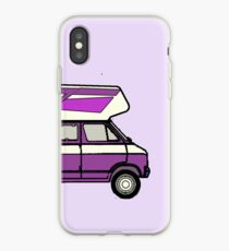 DODGE B100 HIGHTOP CAMPER PURPLE VAN iPhone Case