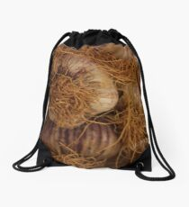 Fresh local garlic Drawstring Bag