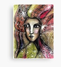 She thinks she was a bird in a past life... Canvas Print