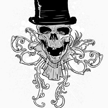 Skull and a Top Hat by TRussotto