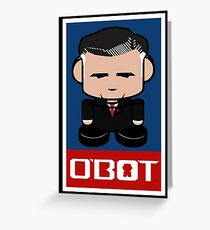 Mitt Romneybot Toy Robot 1.1 Greeting Card