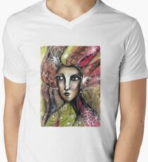 She thinks she was a bird in a past life... Men's V-Neck T-Shirt