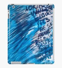 Watercolor with words iPad Case/Skin
