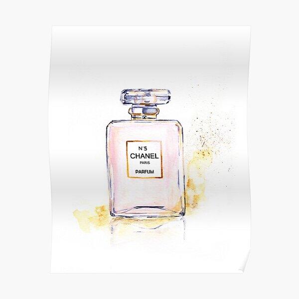 Perfume fashion illustration print Poster