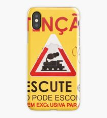 Train Crossing Sign, From Lisbon iPhone Case/Skin