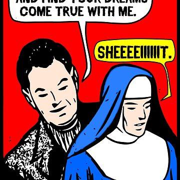 Funny Vintage Comic - I Got A Man! by tommytidalwave