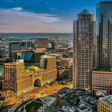 Boston, Bird view. by LudaNayvelt