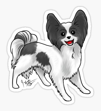 Papillon Glossy Sticker