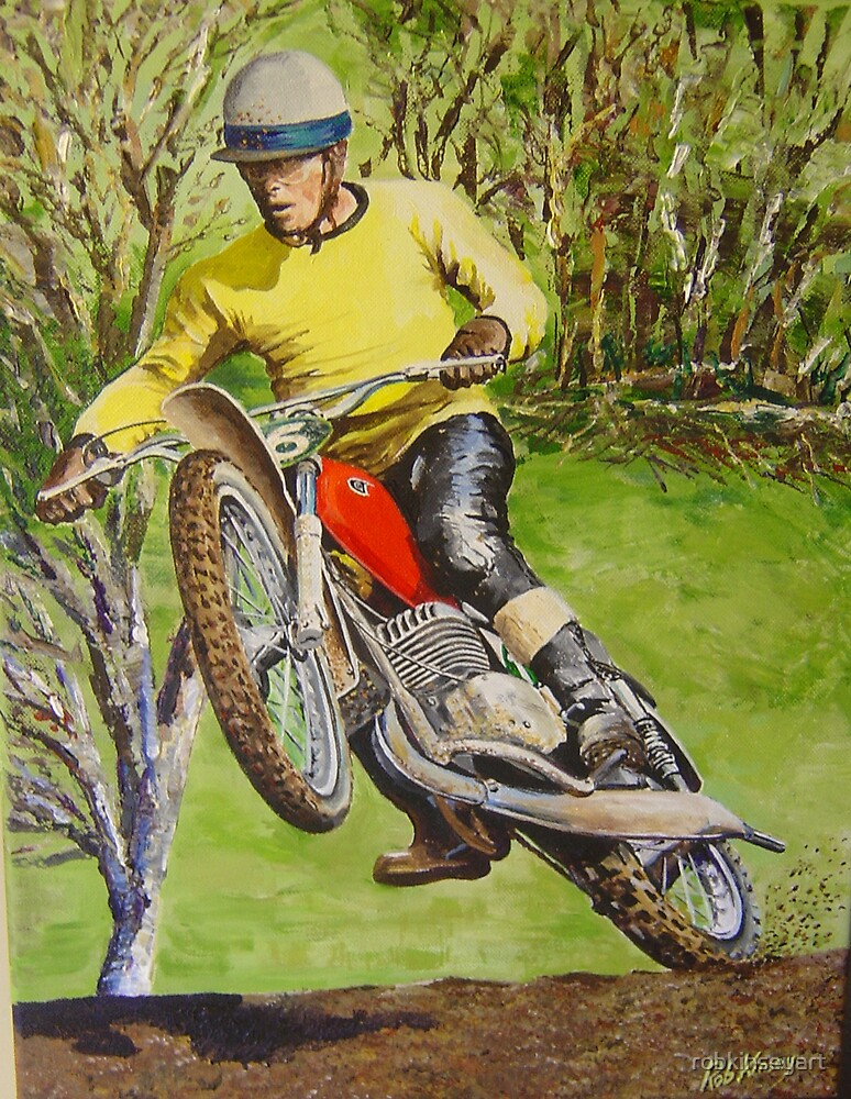 Joel Robert 6 Time World Motocross Champion Commission By Robkinseyart Redbubble