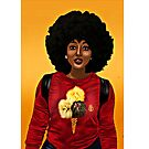 Afro Black Beauty Ice Cream cone TShirt by EllenDaisyShop