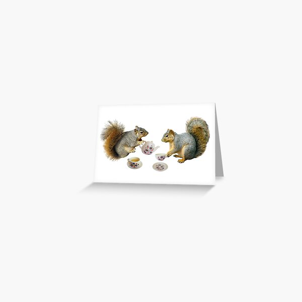 Squirrel's Tea Party Greeting Card