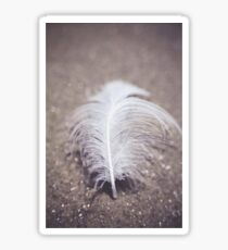 Like a Feather on the Wind Sticker