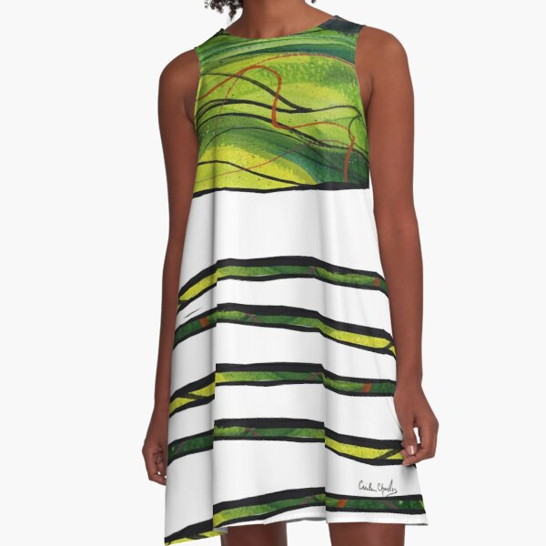 Windy Spin Up by Cecile Grace Charles A-Line Dress