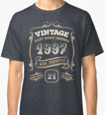21st Birthday Gift Gold Vintage 1997 Aged Perfectly Classic T-Shirt