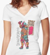 Daimyo DOOM Women's Fitted V-Neck T-Shirt