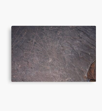 Aboriginal Petroglyphs Canvas Print
