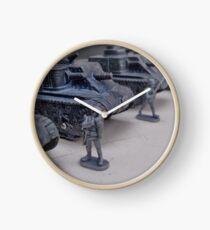 Reloj La Segunda Guerra Mundial era tanque de LEE del ejército de EE. UU. Con soldados