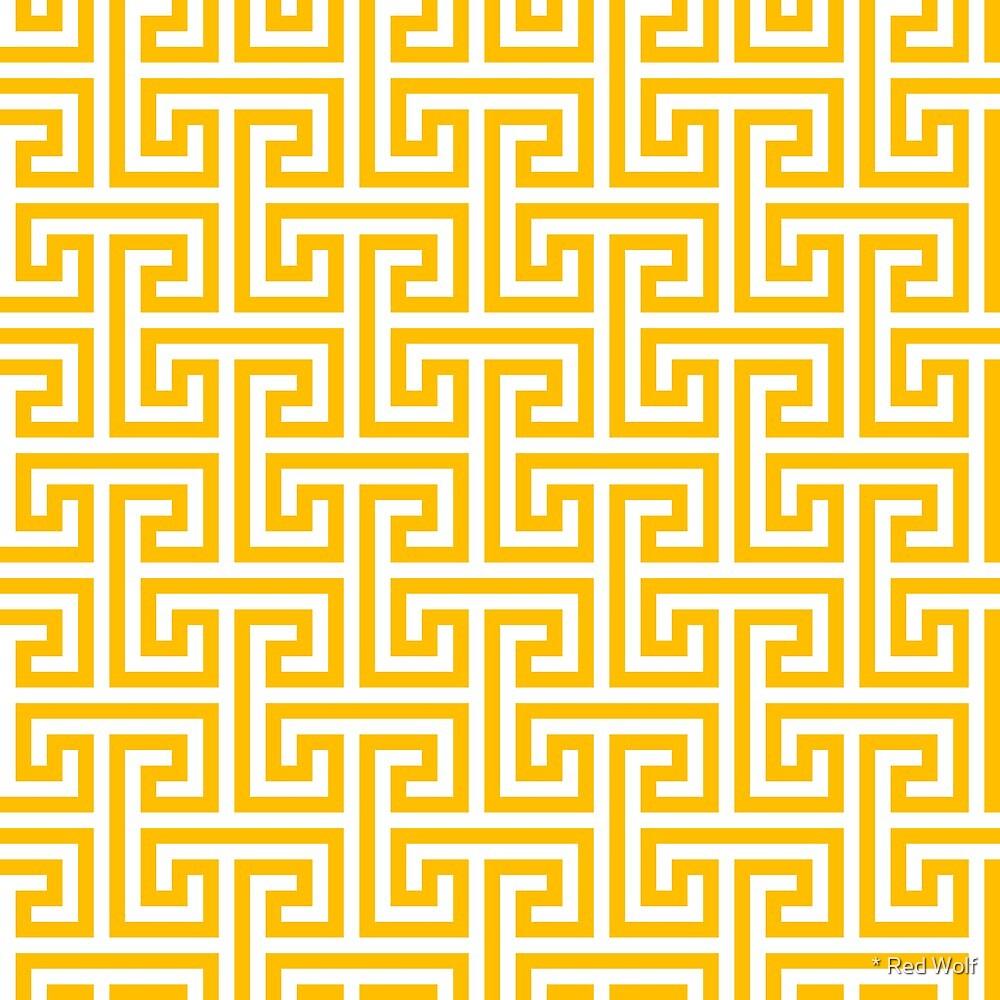 Geometric Pattern: Key Bridge Interlock Negative: Yellow by * Red Wolf