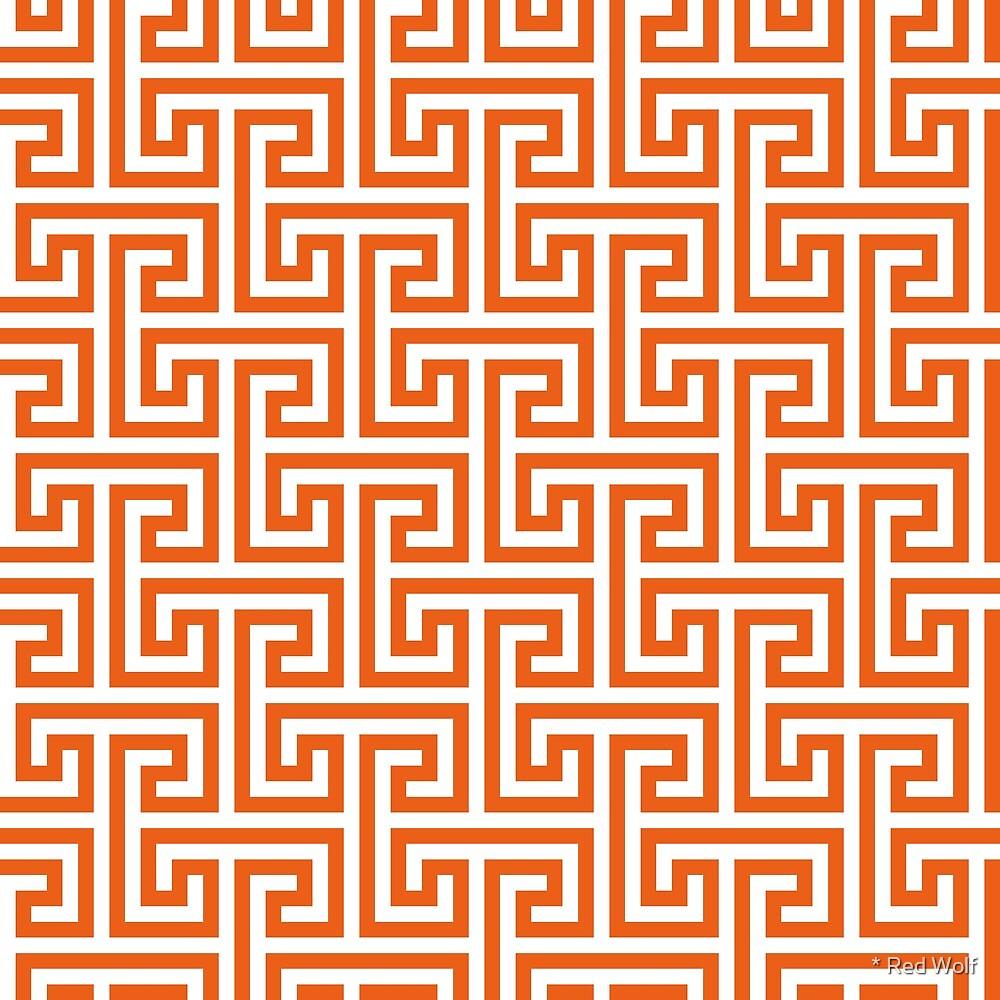 Patrón geométrico: Negativo de interbloqueo de puente clave: naranja ...