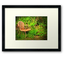 Vintage Garden Chair Framed Print