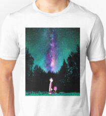 Calvin and Hobbes Galaxy Night Unisex T-Shirt