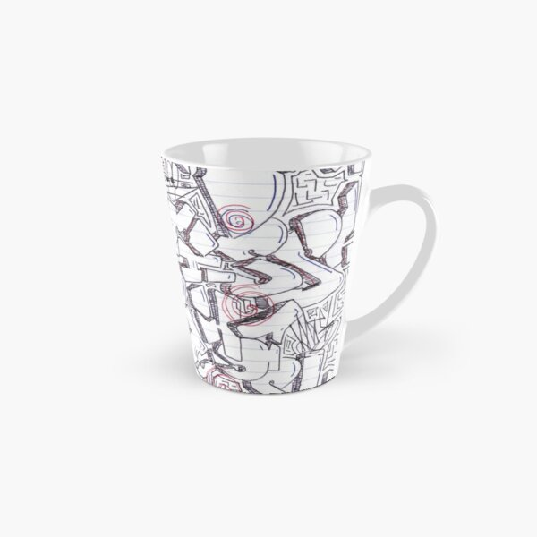 Line art, Drawing, design, depiction, pattern, picture, painting, piece, portrayal Tall Mug