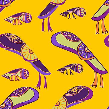 seamless abstract pattern with monsters by talanaart